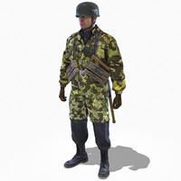 3d model soldier ww2 german fallschirmjager