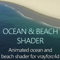 3d model ocean beach shader water