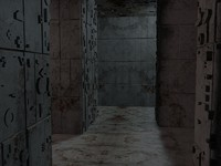 sci-fi labyrinth 3d c4d