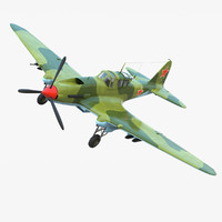 3d ilyushin fighter model