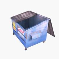 garbage dumpster 3d model