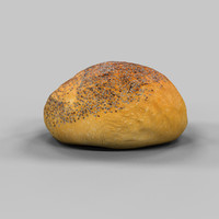3d bread roll pistolet model