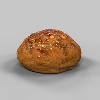 3d model bread roll pistolet