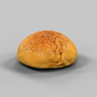 free obj model bread roll pistolet
