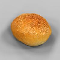 bread roll pistolet obj