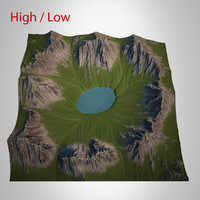 3d max mountain landscape