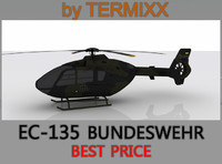 3d heli ec-135 bundeswehr model