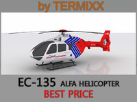 3ds max heli ec-135 alfa helicopter