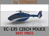 3d model heli ec-135 police