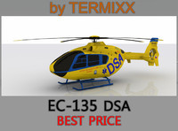heli ec-135 dsa 3d model