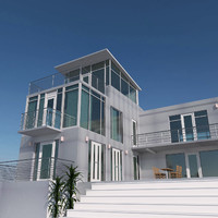 Modern Glass House Exterior
