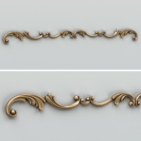 Carved decor horizontal 009