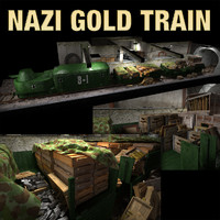 golden train 3d model