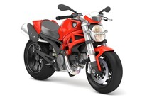 3d cartoon ducati monster