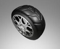 3d model car tire wheel