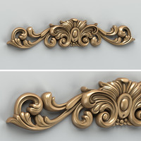 carved horizontal decor 3d obj