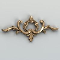carved horizontal decor 3d max