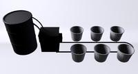 3d hydroponics growing model