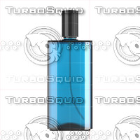 3d bottle blue glass model