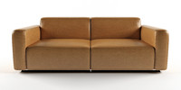 3d model leather furnishings