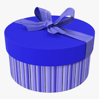 3d giftbox 5 blue model