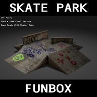 funbox skate park 3d model
