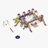 3d model outdoor playground equipment