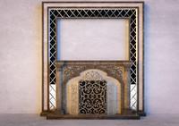 3dsmax classic fireplace