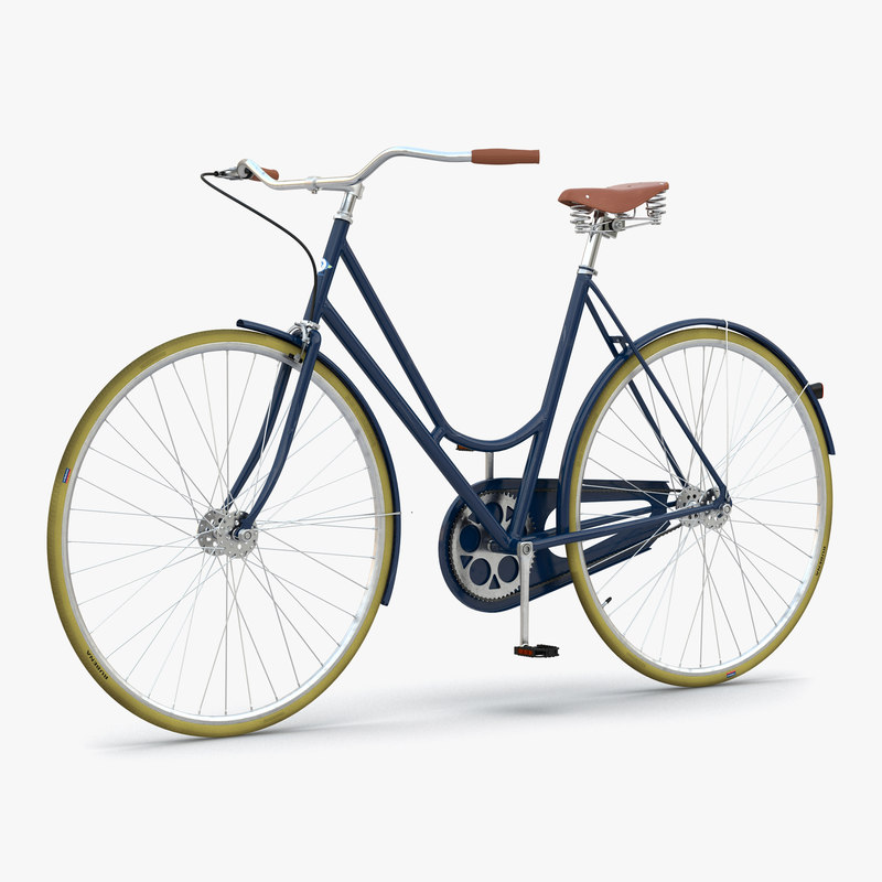 3d model of City Bike Blue 00.jpg