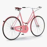 3d city bike pink model