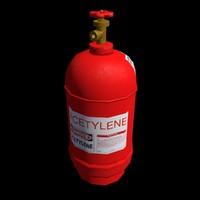 3ds low-poly gas acetylene ballon