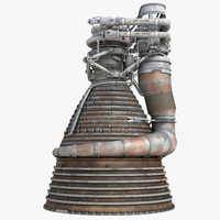 rocket engine f-1 1 3d model