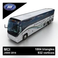 2014 mci j4500 3d model