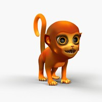 cute cartoon monkey rigged max