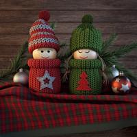 3d christmas dolls model