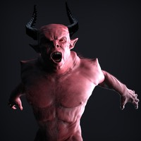 realistic zbrush demonic fantasy creature 3d model