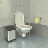 bathroom toilet 3d model