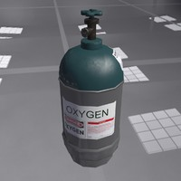 low-poly gas oxygen ballon 3d model
