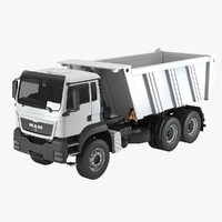 man tgs 40 tipper 3d 3ds