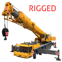 3d model mobile crane liebherr rigging