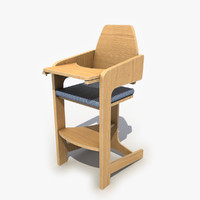 wooden child chair max