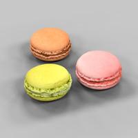 3 macaron 3d model