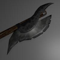 axe barbarian 3d model
