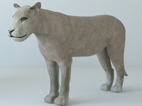 lioness unwrapped 3d model