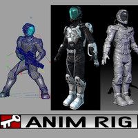 suit rigged animation ma