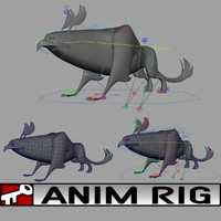 3d model beast rigged