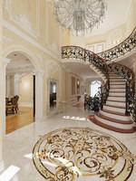 interior classical mansion 3d model