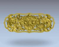 3d model tibetan relief animal