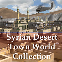 middle arab town city 3d model