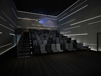 3d model small movie theater